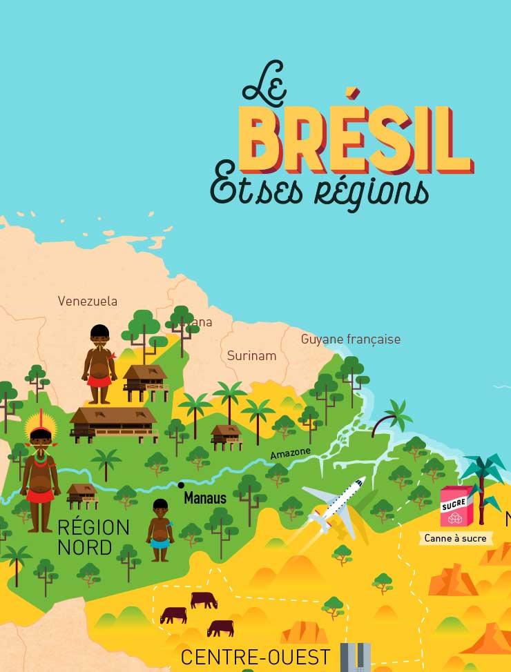 Les régions du Brésil